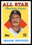 1988 Topps #388  All-Star  -  Wade Boggs Front Thumbnail