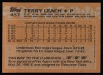 1988 Topps #457   Terry Leach Back Thumbnail