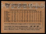 1988 Topps #137   Chris Bosio Back Thumbnail