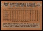 1988 Topps #88  Earnie Riles  Back Thumbnail