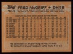 1988 Topps #463   Fred McGriff Back Thumbnail