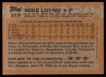 1988 Topps #319  Mike Loynd  Back Thumbnail