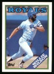 1988 Topps #452   Willie Wilson Front Thumbnail