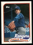 1989 Topps #345  Charlie Hough  Front Thumbnail