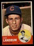 1963 Topps #113  Tom Landrum's Card with Ron Santo's Picture  -  Don Landrum / Ron Santo Front Thumbnail