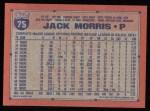 1991 Topps #75  Jack Morris  Back Thumbnail
