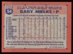 1991 Topps #54  Gary Mielke  Back Thumbnail