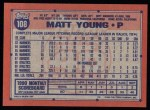 1991 Topps #108  Matt Young  Back Thumbnail