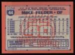 1991 Topps #44   Mike Felder Back Thumbnail