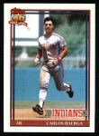 1991 Topps #147  Carlos Baerga  Front Thumbnail