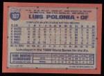 1991 Topps #107   Luis Polonia Back Thumbnail