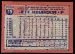 1991 Topps #19  Jeff D. Robinson  Back Thumbnail