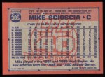 1991 Topps #305   Mike Scioscia Back Thumbnail