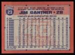 1991 Topps #23  Jim Gantner  Back Thumbnail