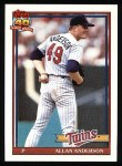 1991 Topps #223  Allan Anderson  Front Thumbnail