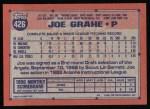 1991 Topps #426  Joe Grahe  Back Thumbnail