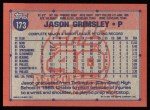 1991 Topps #173   Jason Grimsley Back Thumbnail