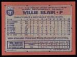 1991 Topps #191   Willie Blair Back Thumbnail