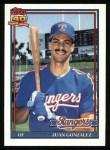 1991 Topps #224  Juan Gonzalez  Front Thumbnail