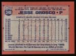 1991 Topps #346   Jesse Orosco Back Thumbnail