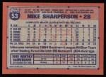 1991 Topps #53  Mike Sharperson  Back Thumbnail