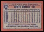 1991 Topps #325   Brett Butler Back Thumbnail
