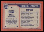 1991 Topps #404  All-Star  -  Mike Scioscia Back Thumbnail