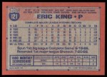 1991 Topps #121   Eric King Back Thumbnail
