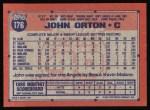 1991 Topps #176  John Orton  Back Thumbnail