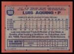 1991 Topps #169   Luis Aquino Back Thumbnail