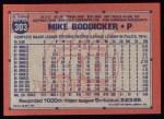 1991 Topps #303   Mike Boddicker Back Thumbnail