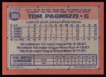 1991 Topps #308   Tom Pagnozzi Back Thumbnail