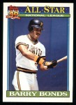 1991 Topps #401   -  Barry Bonds All-Star Front Thumbnail