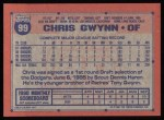 1991 Topps #99   Chris Gwynn Back Thumbnail