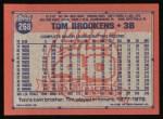 1991 Topps #268   Tom Brookens Back Thumbnail