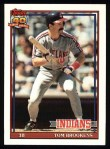 1991 Topps #268   Tom Brookens Front Thumbnail