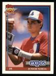 1991 #182  Junior Noboa  Front Thumbnail