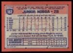 1991 #182  Junior Noboa  Back Thumbnail