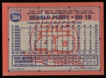 1991 Topps #384  Gerald Perry  Back Thumbnail