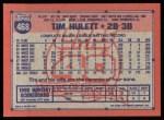 1991 Topps #468   Tim Hulett Back Thumbnail