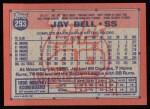 1991 Topps #293  Jay Bell  Back Thumbnail