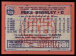 1991 Topps #409   Mike Stanley Back Thumbnail