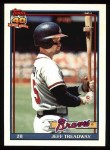 1991 Topps #139   Jeff Treadway Front Thumbnail