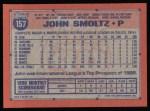 1991 Topps #157   John Smoltz Back Thumbnail