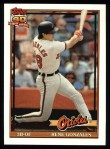 1991 Topps #377   Rene Gonzales Front Thumbnail