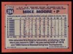 1991 Topps #294  Mike Moore  Back Thumbnail