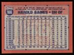 1991 Topps #166   Harold Baines Back Thumbnail