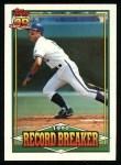 1991 Topps #2  Record Breaker  -  George Brett Front Thumbnail