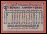 1991 Topps #470  Howard Johnson  Back Thumbnail
