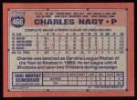 1991 Topps #466   Charles Nagy Back Thumbnail